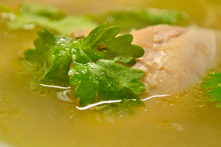 Belt Tightening 2012: Cleansing Ginger Chicken Soup ...